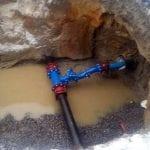 Bjørntvedtvegen. Tilkobling av ny vannledning.