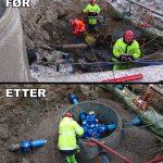 Kirkegata Porsgrunn. Ny vannkum.
