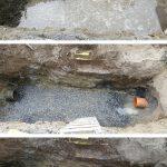 Reparasjon av kloakk lekkasje, Borgevegen Skien.
